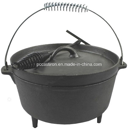 Preseasoned Reversable Cast Iron Camping BBQ Grill Pan China