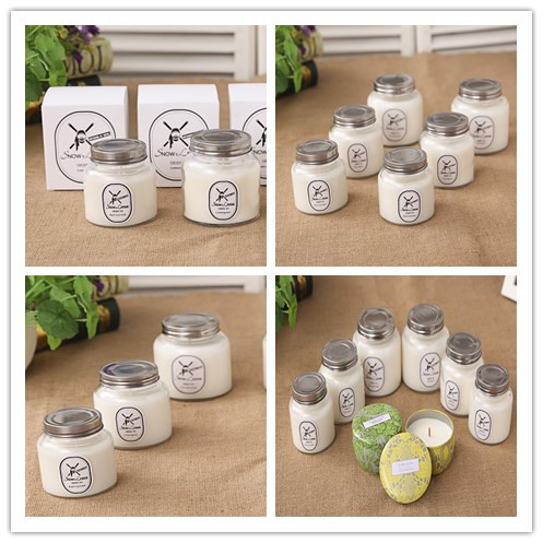White Color and Yes Handmade Natural Soy Scented Candle