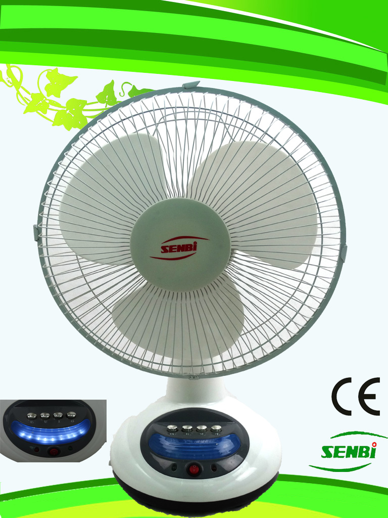 12 Inches Rechargeable Fan Solar Table Fan DC Fan FT-30DC-Rd