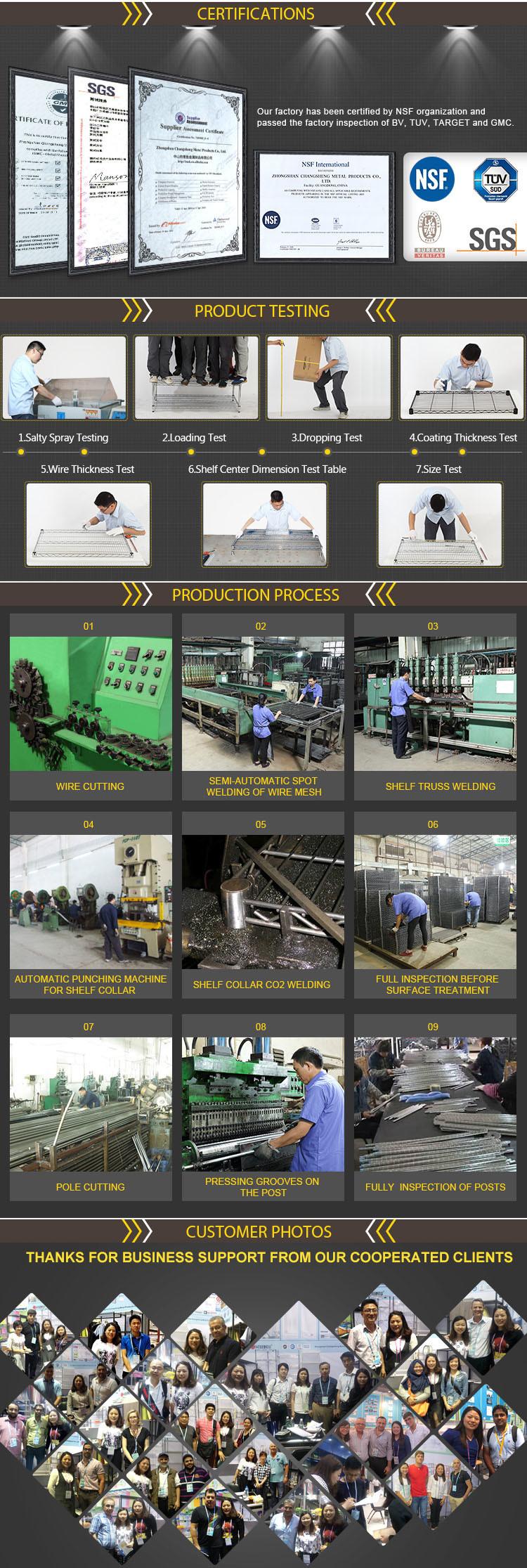 5 Tiers 350kgs Heavy Duty Warehouse Storage Steel Green Epoxy Coated Wire Shelving