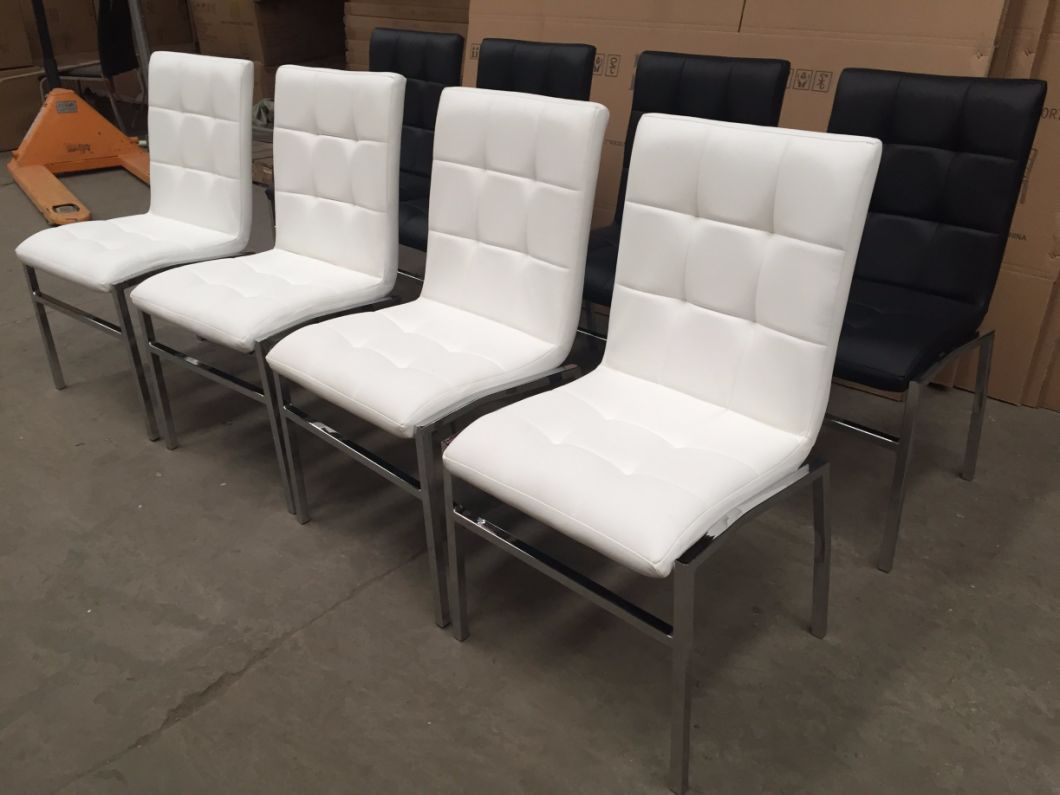 Modern Furniture Cheap Leather Metal Dinner/Dining Chairs