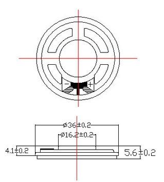 Fbf36-5tlb 36mm 0.5W 8ohm Mylar Cone Speaker (FBELE)