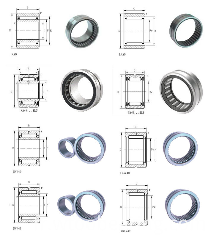 Entity Bushed Needle Roller Bearing with (without) Inner Ring Na49