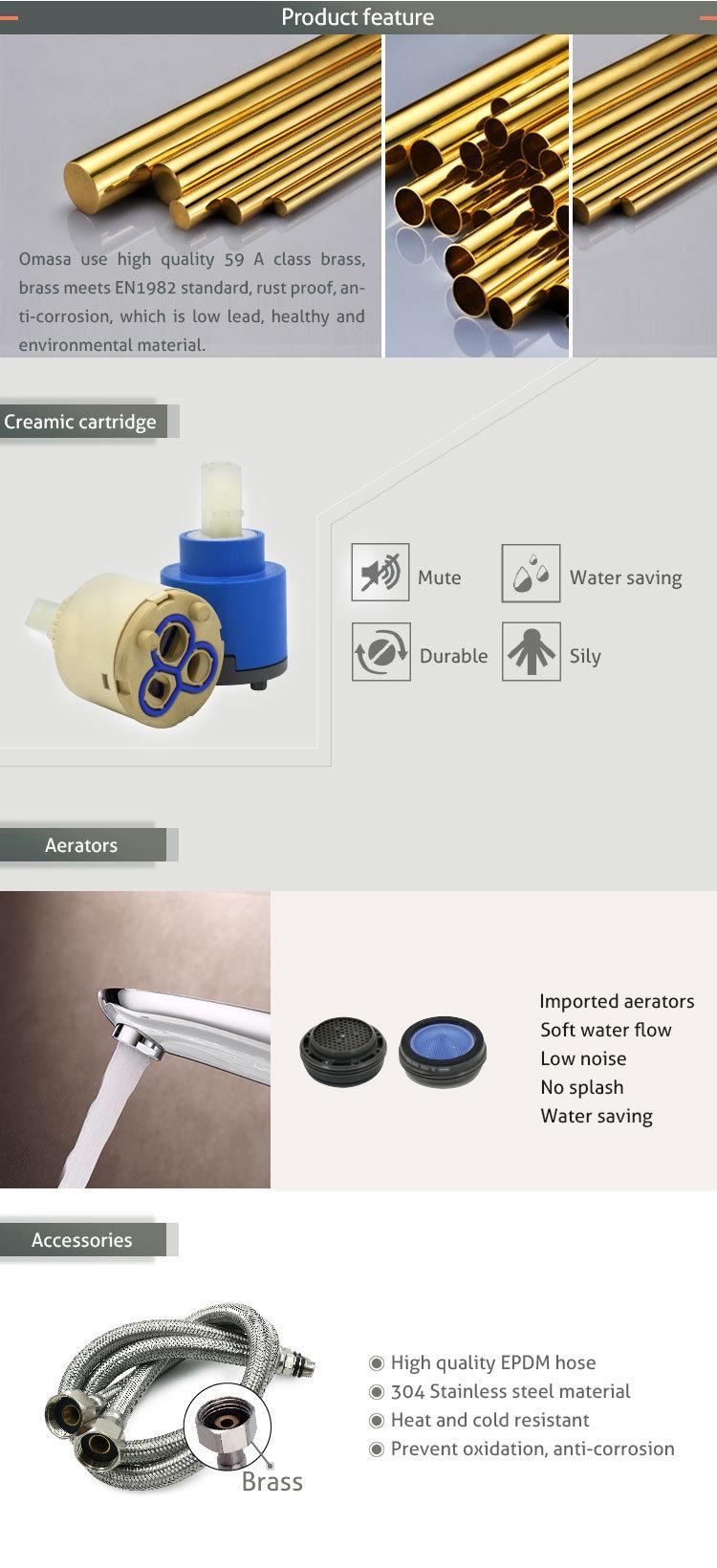 Chrome Single Handle Desk Mounted Kitchen Faucet & Mixer