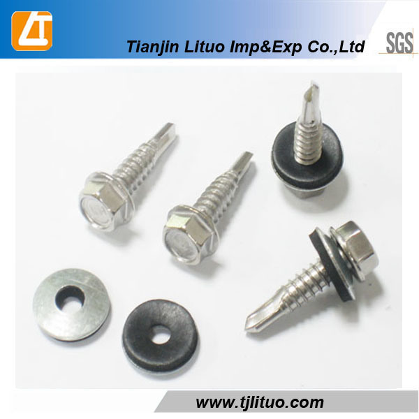 DIN7504k Hex Head Self Drilling Screws with EPDM Bonded Washers