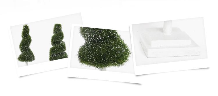 Wholesale Outdoor Garden Decoration Plastic H10-19cm Mini Artificial Plant