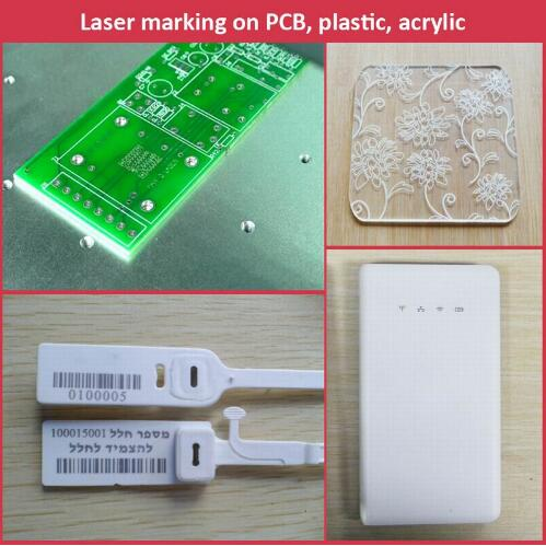 Two Working Stations Laser Marking Machine with Full Enclosed Laser Protection