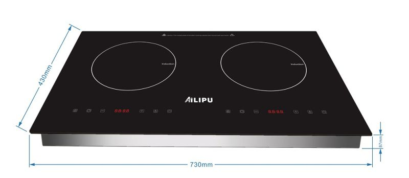 CB CE 4000W Built in Stainless Steel 2 Burner Vietnam Philippines Spain Electric Induction Cooktop