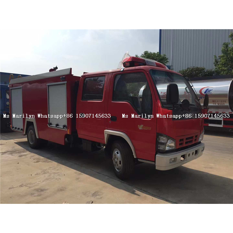 Isuzu Fire Fighting Water Monitor, Size of Fire Truck, Telescopic Boom Fire Truck