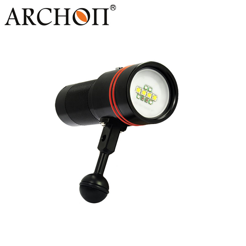 Archon 5000k-5500k Button Switch 2600lm Diving Video Torch W40V