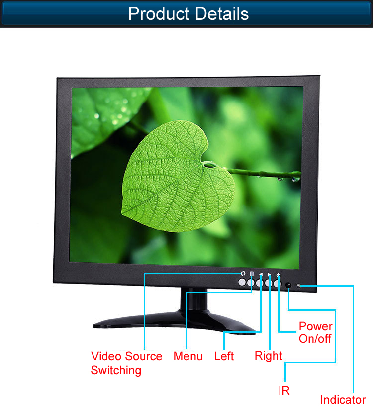10.1 Inch Back up Monitor for Industrial Application
