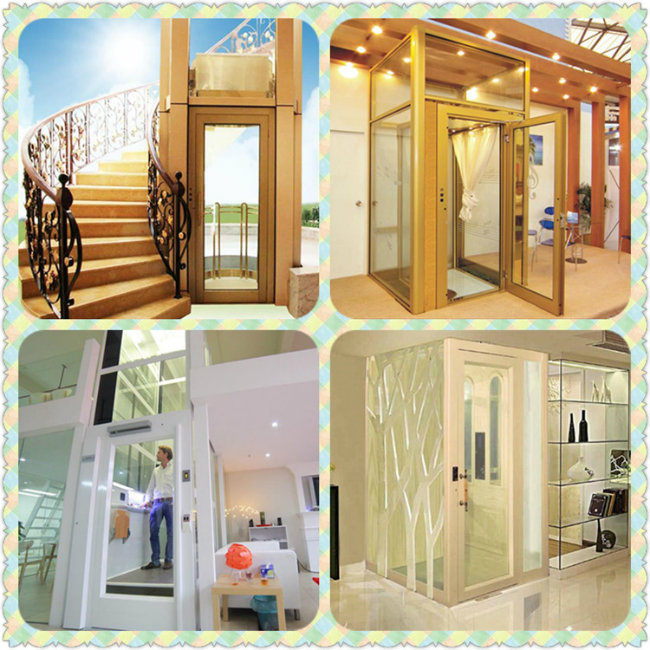 400kg Comfortable Vvvf Luxury Residential Villa Home Elevator