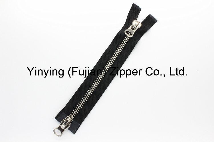 8# Two Way Open Slider Metal Zipper for Bags