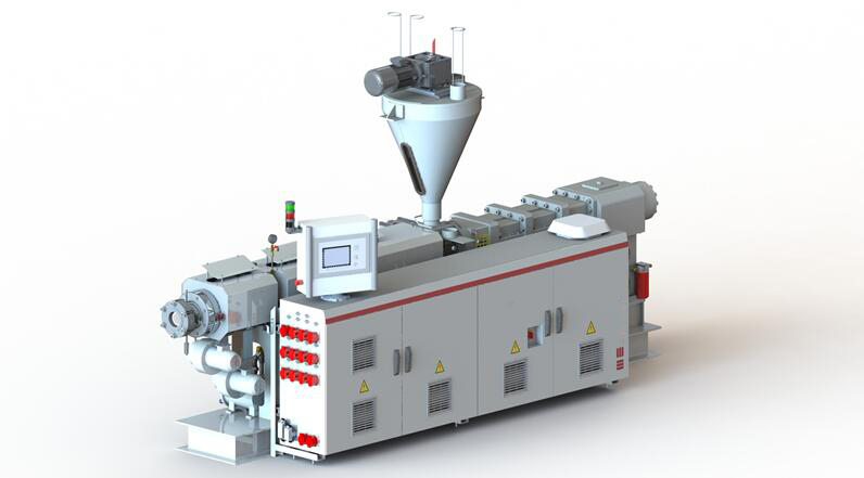 (European OEM) Plastic PVC/SPVC Pipe& Granules WPC Window Profile Counter Rotation Parallel/Conical Twin Screw Extruder