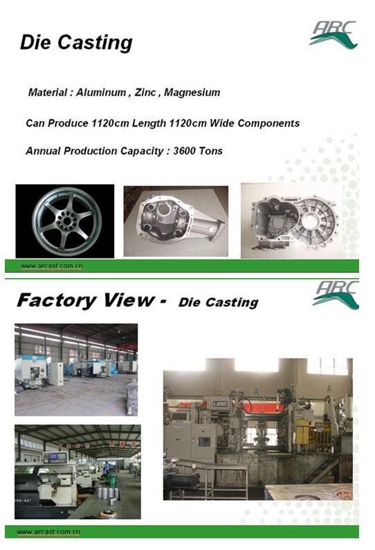 OEM Magnesium Alloy Die Casting for Auto Housing Parts ADC12 Arc-D6000