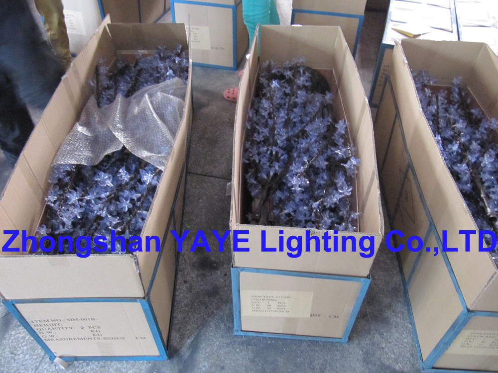 Yaye Hot Sell Top Good Price High Quality Ce & RoHS Approval Waterproof IP65 RGB LED Tree Light with Warranty 2 Years