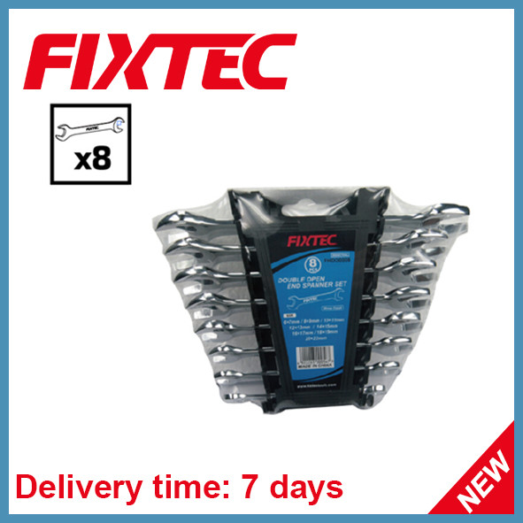 Fixtec Hand Tools 8PCS Double Open End Spanner Set
