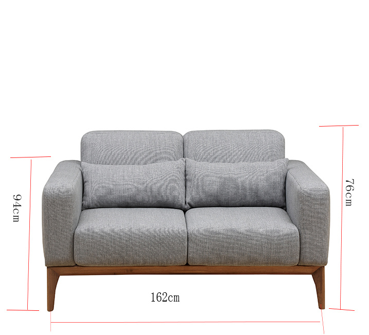 2018 New Product Modern Wood Home Furniture Set Fabric Sofa Bed for Living Room