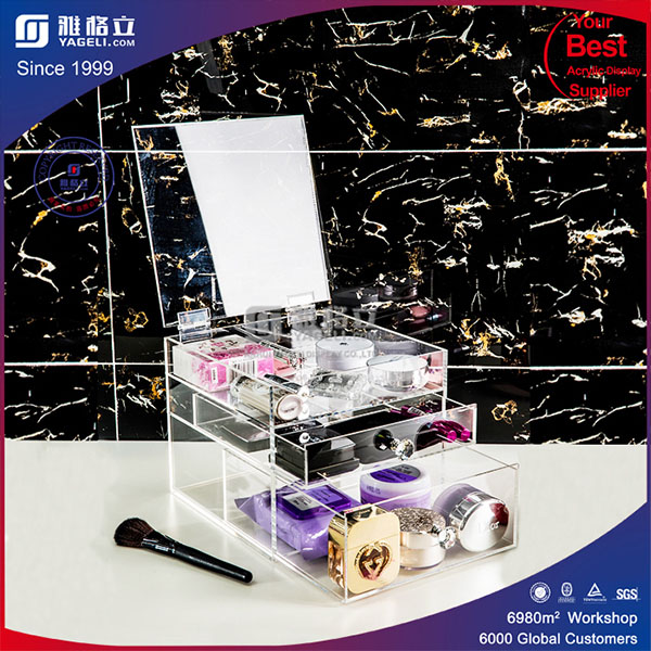 See Through Crystal Clear Acrylic Makeup Organizer