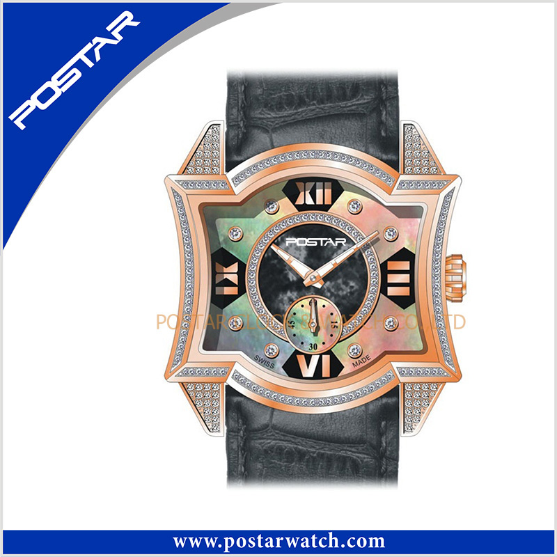 Original New Arrival Fashional Watch Quartz Wrist Watch with Real Leather Band and Mop Dial