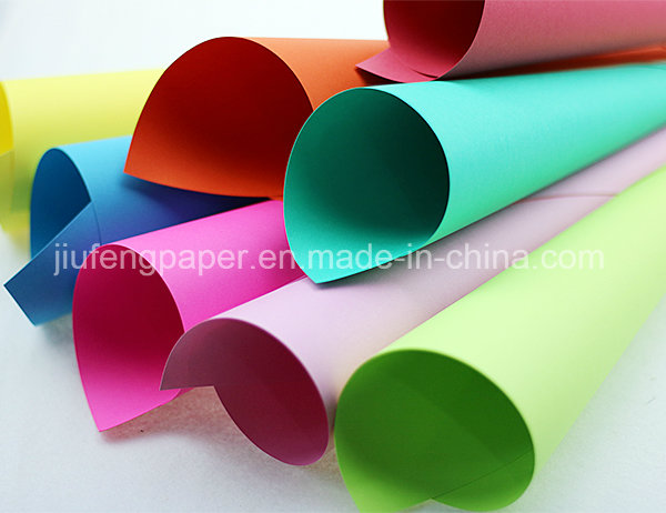 High Grade 160g Paper Wood Pulp Dyed Paper Colorful