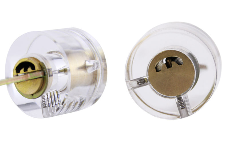 Transparent Single-Head Lock with Crescent Key (Single Groove) for Locksmith Training