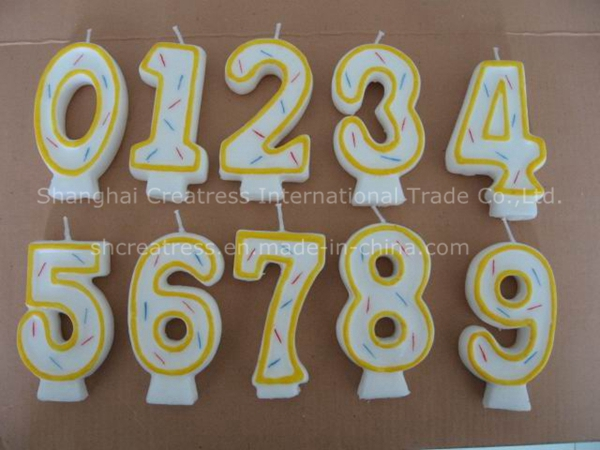 Top Quality Competitive Price Eco-Friendly Wax Most Popular Birthday Number Candle