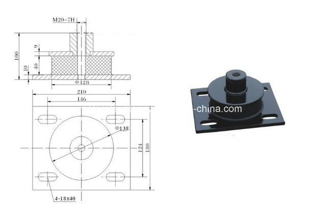 Lift Traction Machine Anti-Vibration Pad, Elevator Parts (OS14-01/02)