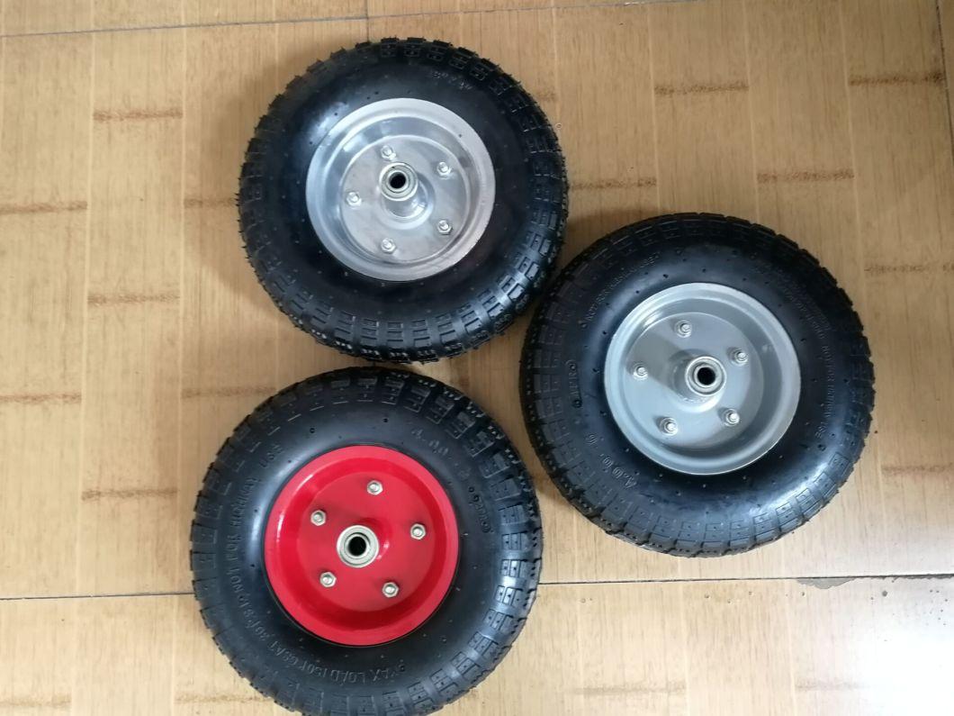 Euro Market 13 Inch 4.00-6 Pneumatic Tyre Rubber Wheelbarrow Wheel