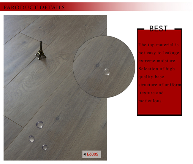 E0 AC4 Oak HDF Parquet Wood Laminate Laminated Flooring