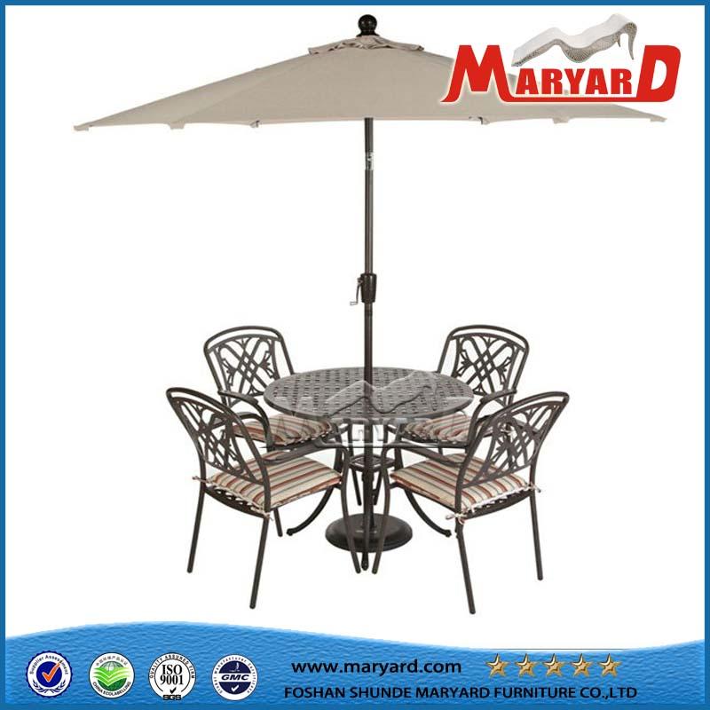 Restaurant Chair Cast Aluminum Furniture Dining Set Garden Chair