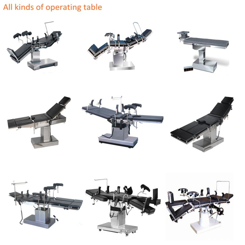 Hospital O. T Use Fluoroscopic Manual Hydraulic Operating Surgical Table