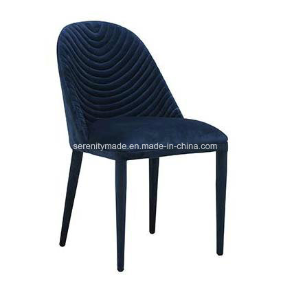 Modern Luxury Navy Blue Banquet Replica Beetle Fabric Stackable Dining Chair