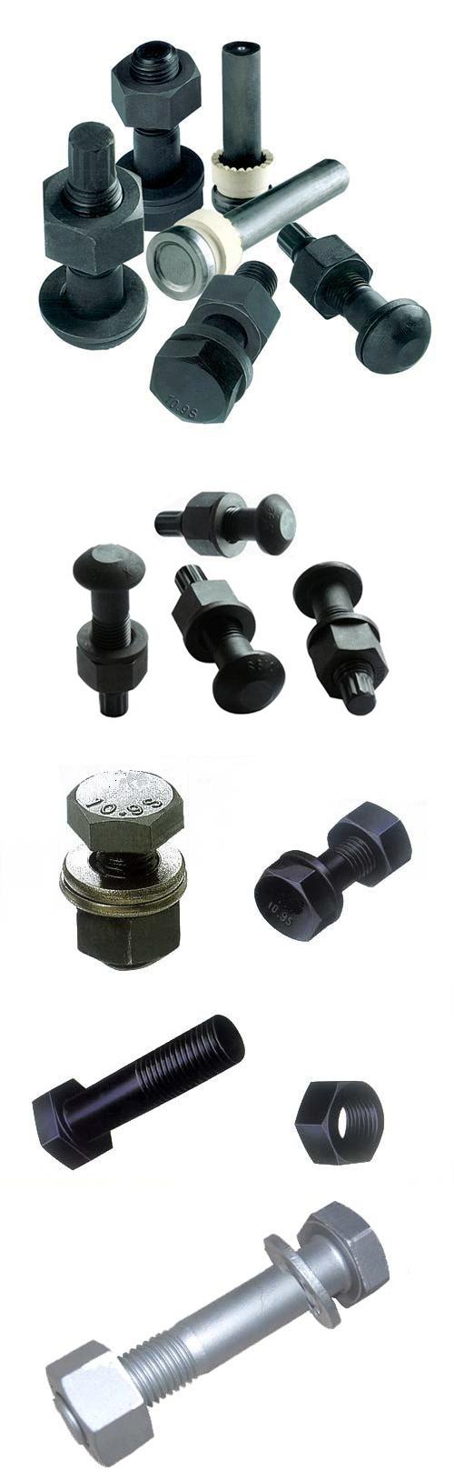 ASTM A490 Structural Bolt, Alloy Steel, 150ksi Minimum Tensile Strength