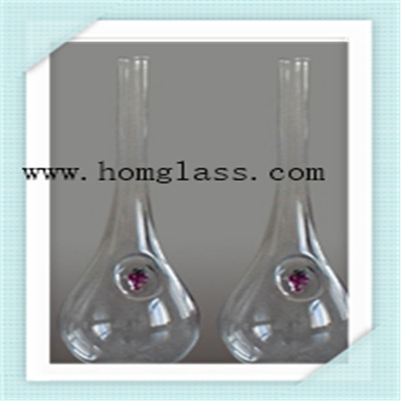 High Quality Borosilicate Glass Wine Bottle Apothecary Jar Castors