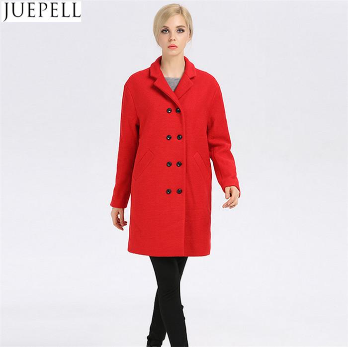 Women Winter Coat Women Fashion Long Wool Winter Coat