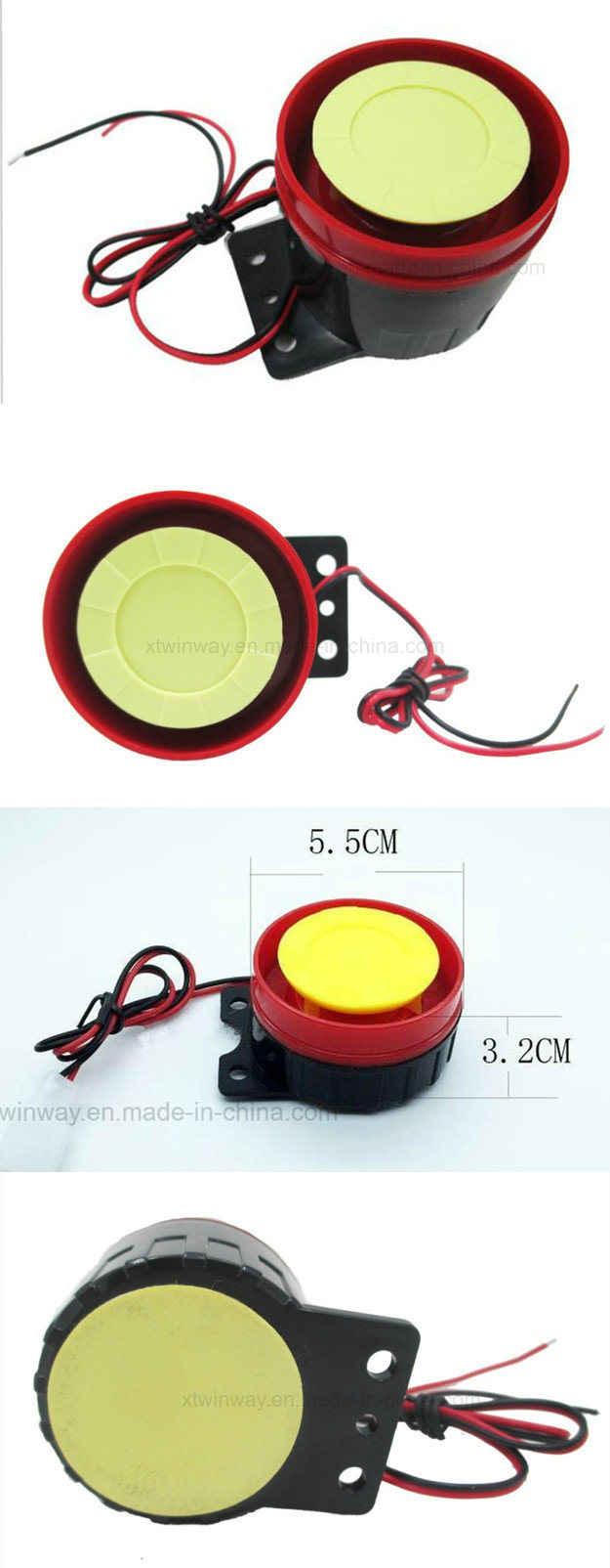 Ww-8713, 12V 125dB Mini Motorcycle Horn Alarm Speaker
