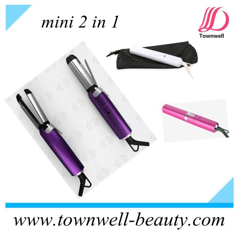 Mini Hair Curler / Straightener 2 in 1 for Travel