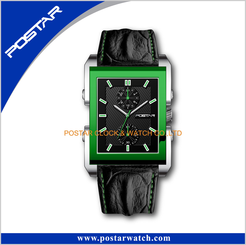 Postar Model Psd-3102 Leather Simple Watch with Two Small Eyes