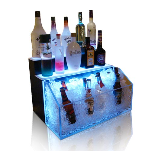Lightweight Acrylic LED Plinth for Wines, Plexiglass LED Display Box