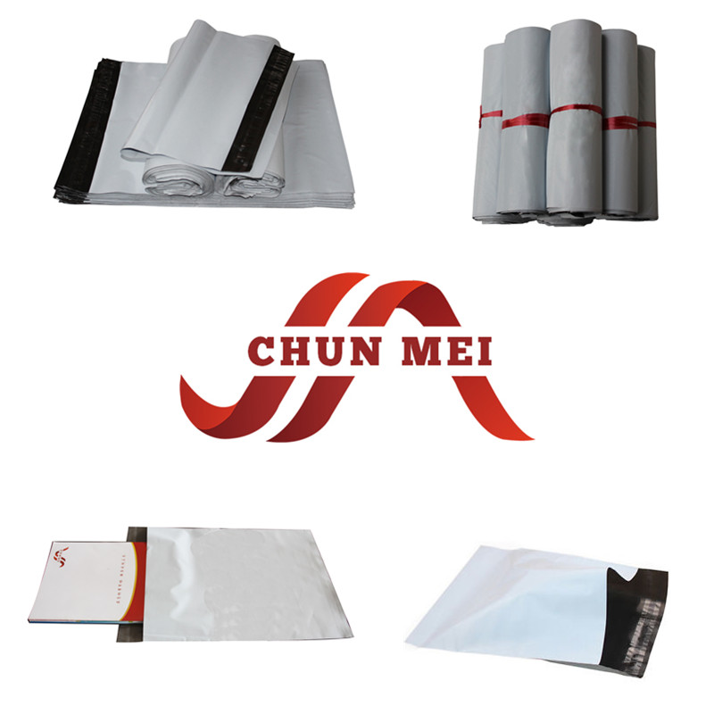 Customized Good Looking White Poly Mailer/Plastic Bag with Lowest Price