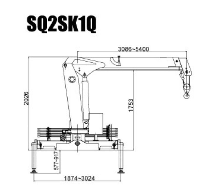 Sinotruk 5ton Truck Installed with 2 Ton Crane