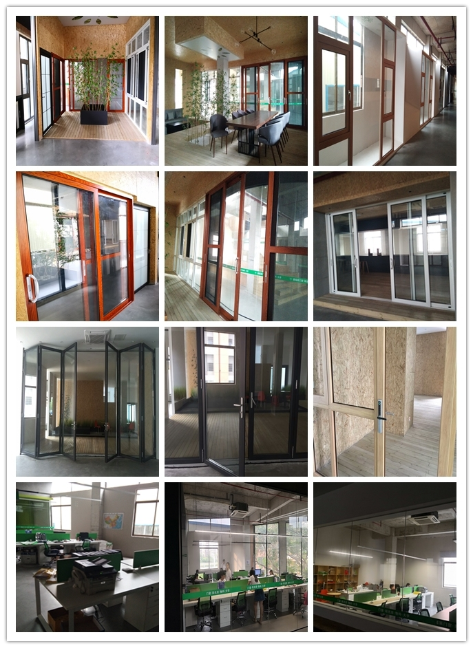 Heat Insulation Double Low-E Glass Thermal Break Aluminum Swing Door with Cheap Price
