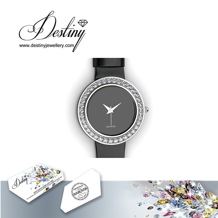 Destiny Jewellery Crystal From Swarovski Elegant Leather Watch