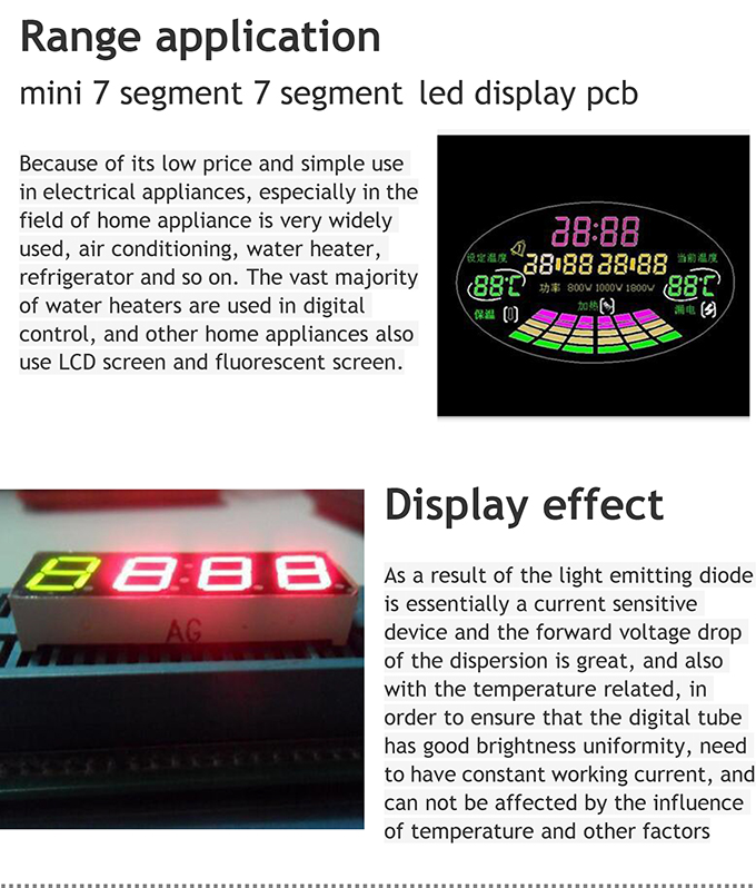 High Quality with RoHS 7 Segment LED Display Custom LED Display