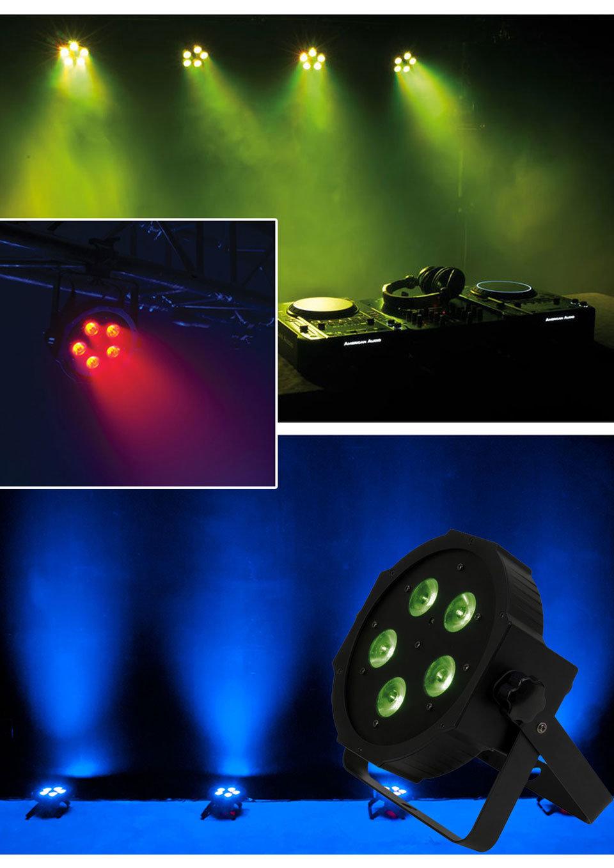 Stage Light 5*18W 6in1 LED Mega Profile Light Rgbaw UV LED PAR Can