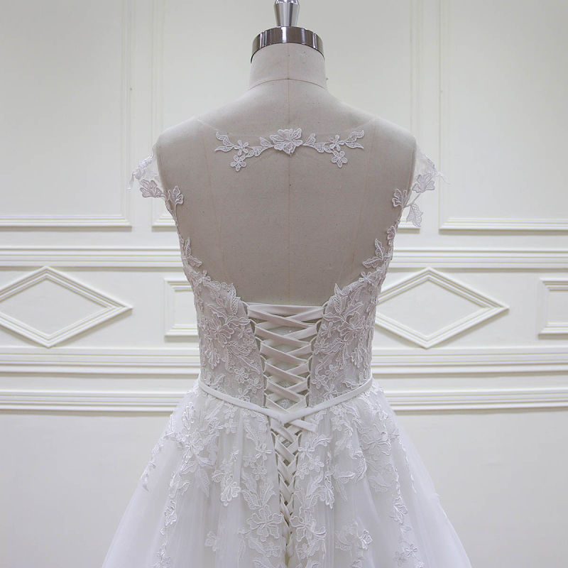 Floor Length French Lace A-Line Bridal Gowns