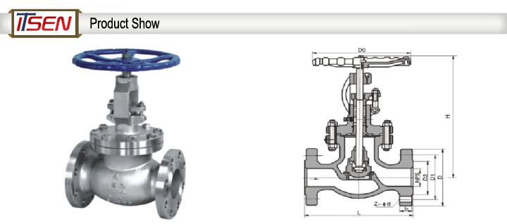 API Stainless Steel 304/316 Steam/Water/Oil/Gas Globe Valve Flange Globe Valve