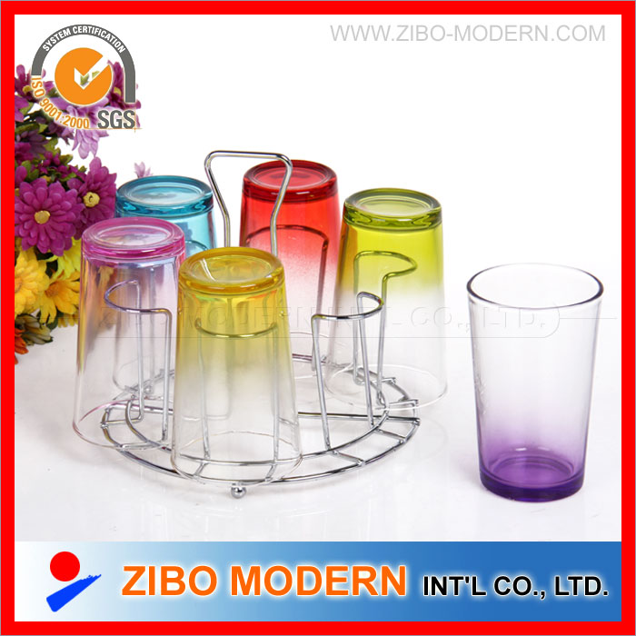 Wholesale Beautiful Colored Drinking Glass Set