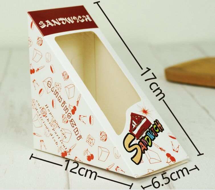 Triangle Window Sandwich Packaging Box